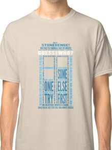 """Doctor Who TARDIS Quotes shirt - Eleventh Doctor """"Pandorica"""" Version Classic T-Shirt"""