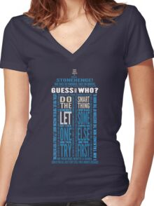 "Doctor Who TARDIS Quotes shirt - Eleventh Doctor ""Pandorica"" Version Women's Fitted V-Neck T-Shirt"