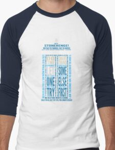 "Doctor Who TARDIS Quotes shirt - Eleventh Doctor ""Pandorica"" Version Men's Baseball ¾ T-Shirt"