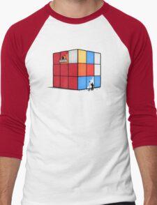 Solving the cube Men's Baseball ¾ T-Shirt
