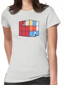 Solving the cube Womens Fitted T-Shirt