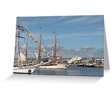 Lovely old ships in the Port Greeting Card