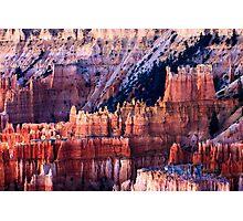 Bryce Canyon Hoodoos at Sunset Photographic Print