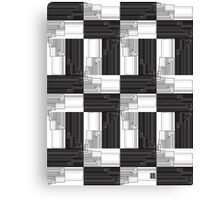"""Merge Sort Algorithm in Black and White""© Canvas Print"
