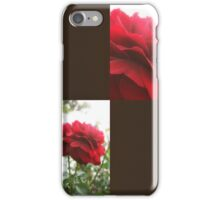 Red Rose with Light 1 Blank Q3F0 iPhone Case/Skin