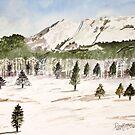 Pikes Peak Mountains Painting by derekmccrea