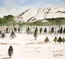Pikes Peak Mountains Painting by derekmccrea