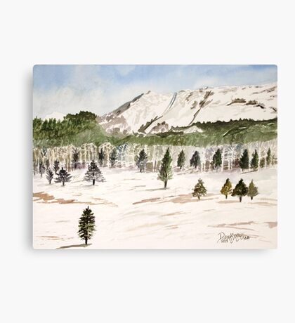 Pikes Peak Mountains Painting Canvas Print