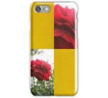Red Rose with Light 1 Blank Q7F0 iPhone Case/Skin