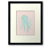 Cute Pastel Jellyfish  Framed Print