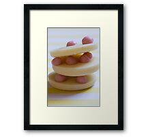 strawberry cream stack Framed Print