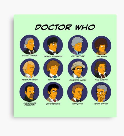 Doctor Who Tardis Green collection Canvas Print