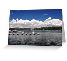 """""""A day at the lake before the storm """" Greeting Card"""