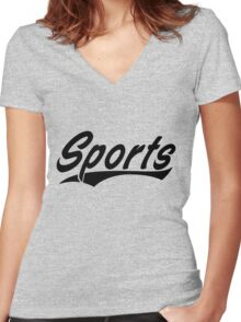 Sports Women's Fitted V-Neck T-Shirt