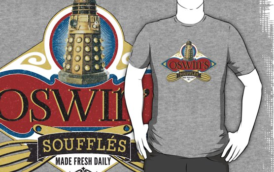 Doctor Who Inspired Oswin Oswald's Souffles - Souffle Girl Shirt - Daleks by traciv