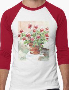 Sweet Geranium Men's Baseball ¾ T-Shirt