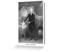 Thomas Jefferson Greeting Card