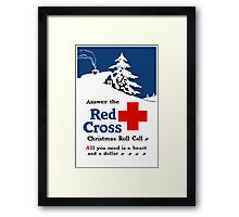 Answer The Red Cross Christmas Roll Call Framed Print