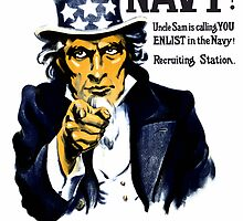 I Want You In The Navy -- Uncle Sam by warishellstore