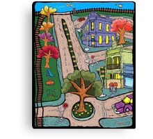 Sunday Morning Country Town  Canvas Print