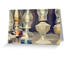 Old lamps Greeting Card