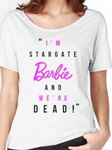 Amanda Tapping - 'Stargate Barbie' T-shirt  Women's Relaxed Fit T-Shirt