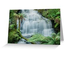 Triplet Falls with Surreal Perspective Greeting Card