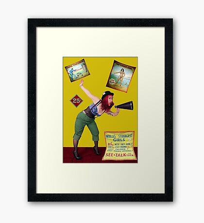 The Barker Framed Print