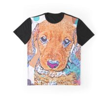 Watercolor Doxie Graphic T-Shirt