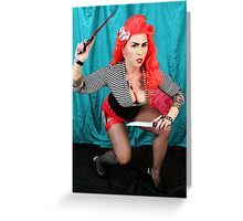 The Knife Thrower Greeting Card