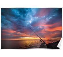 A Spot of Sunrise Fishing Poster