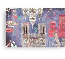 Paris in Violet Canvas Print