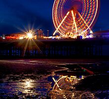 Ferris Wheel reflection by Alan Robert Cooke
