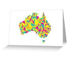 Abstract Australia Bright Earth Greeting Card
