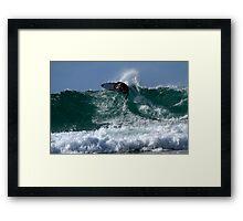 Surfing Snapper Rocks #1 04.09.2013 Framed Print