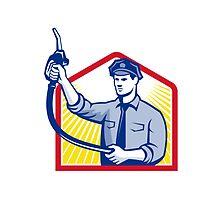 Gas Jockey Gasoline Attendant Fuel Pump Nozzle by patrimonio