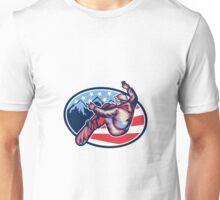 American Snowboarder Jumping Snowboard Retro Unisex T-Shirt