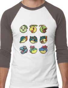 Pokemon Trozei Johto Starters Men's Baseball ¾ T-Shirt