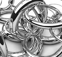 Background made of chrom swirls by joggi2002