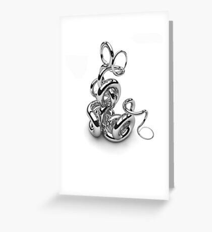 Abstract Swirls Greeting Card