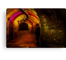 Trajectum Lumen Project. Ganzenmarkt Tunnel. Netherlands Canvas Print