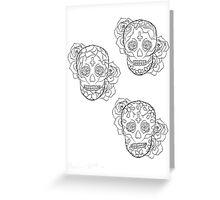 Sugar Skulls Greeting Card