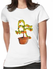 floral composition with oranges Womens Fitted T-Shirt