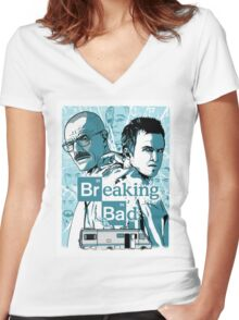 The Breaking Bad Duo Women's Fitted V-Neck T-Shirt