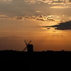 August Sunset at Pitstone Windmill (Limited Edition) by Dale Rockell