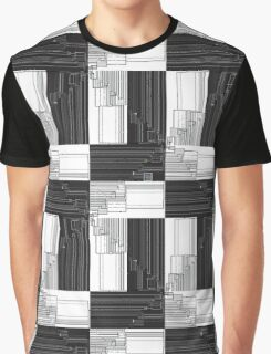 """Merge Sort Algorithm in Black and White""© Graphic T-Shirt"