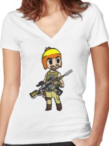 The Legend of Vera (The Hero of Canton) Women's Fitted V-Neck T-Shirt