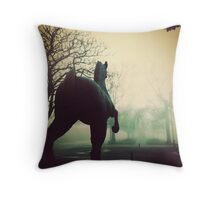 The Charge, Ballarat. Throw Pillow