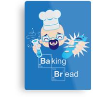 Baking Bread Kawaii Metal Print