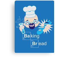 Baking Bread Kawaii Canvas Print
